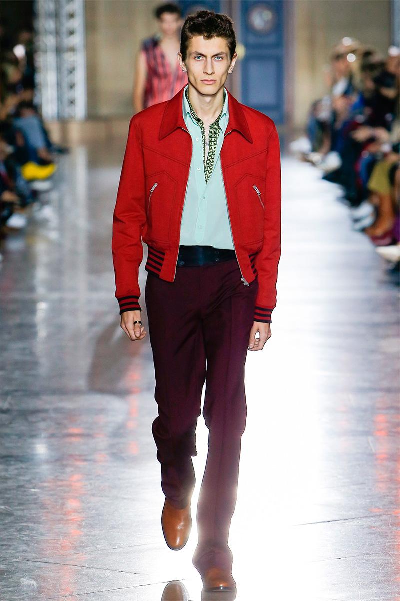Givenchy весна лето 2018 мужская куртка