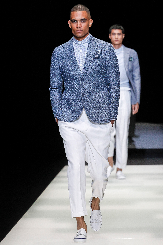 Giorgio Armani весна лето 2018 мужской пиджак