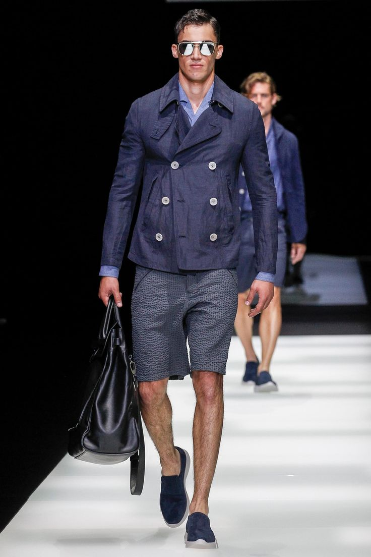Giorgio Armani весна лето 2018 мужские шорты
