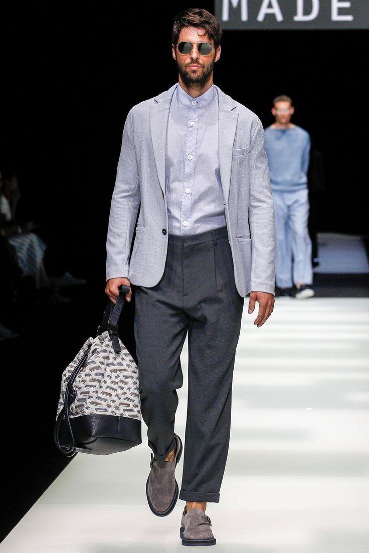 Giorgio Armani весна лето 2018 мужская сумка