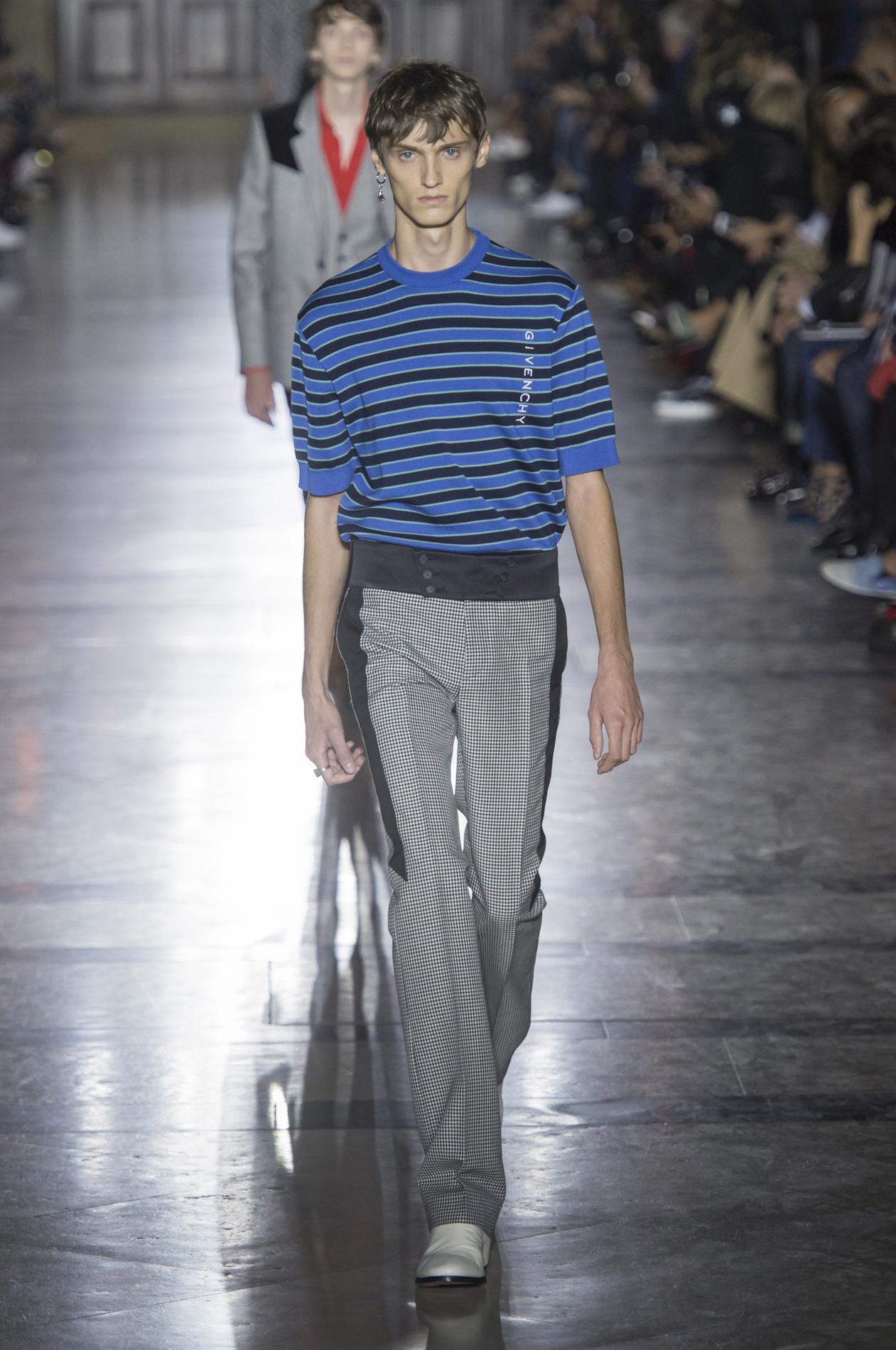 Givenchy весна лето 2018 мужские брюки
