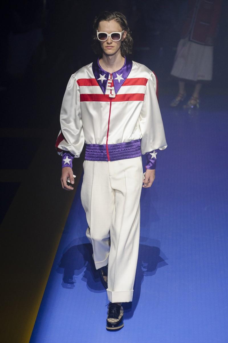 Gucci весна лето 2018 мужская коллекция