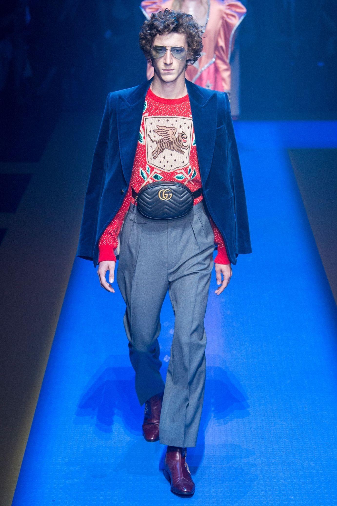 Gucci весна лето 2018 мужские брюки