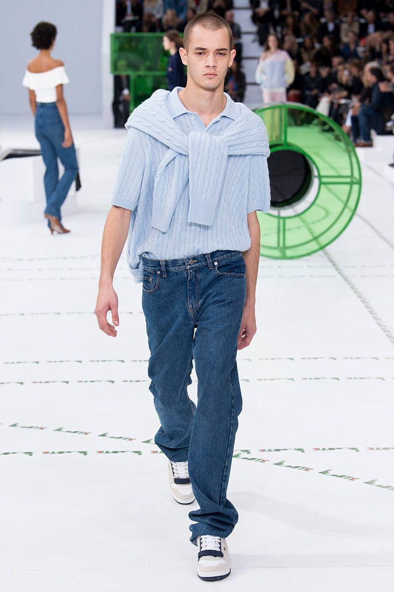 Lacoste весна лето 2018 мужские джинсы