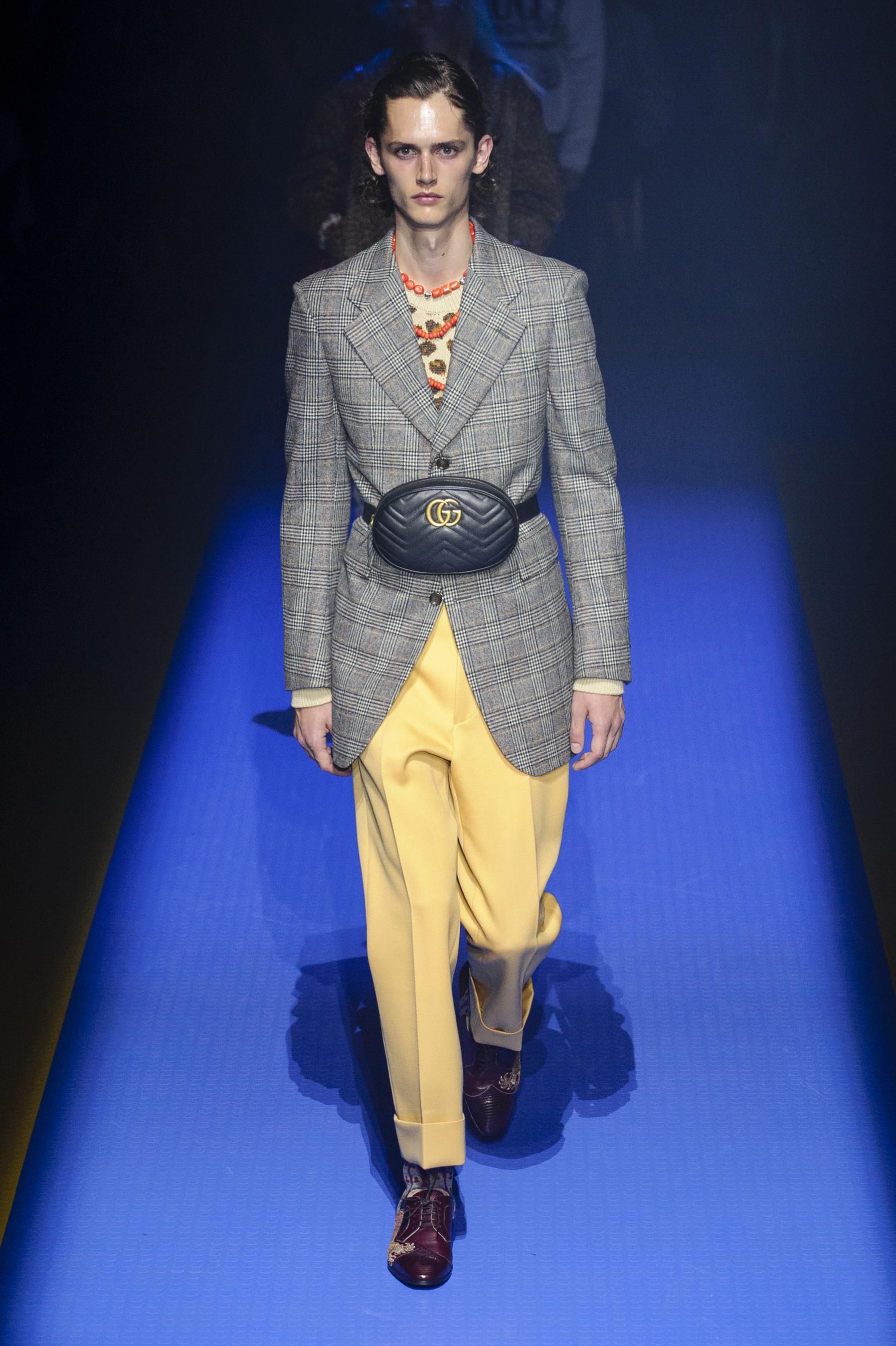 Gucci весна лето 2018 мужской пиджак