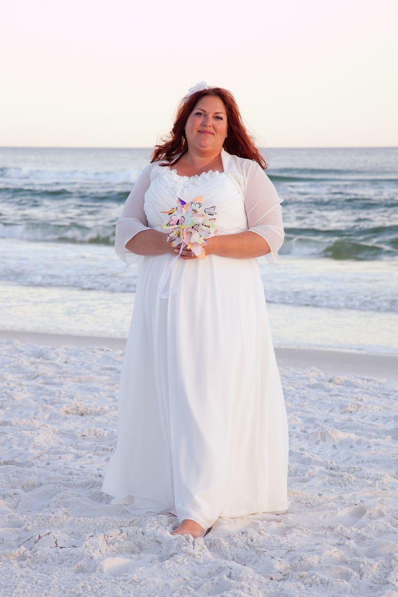 Свадебное платье для полных нежное