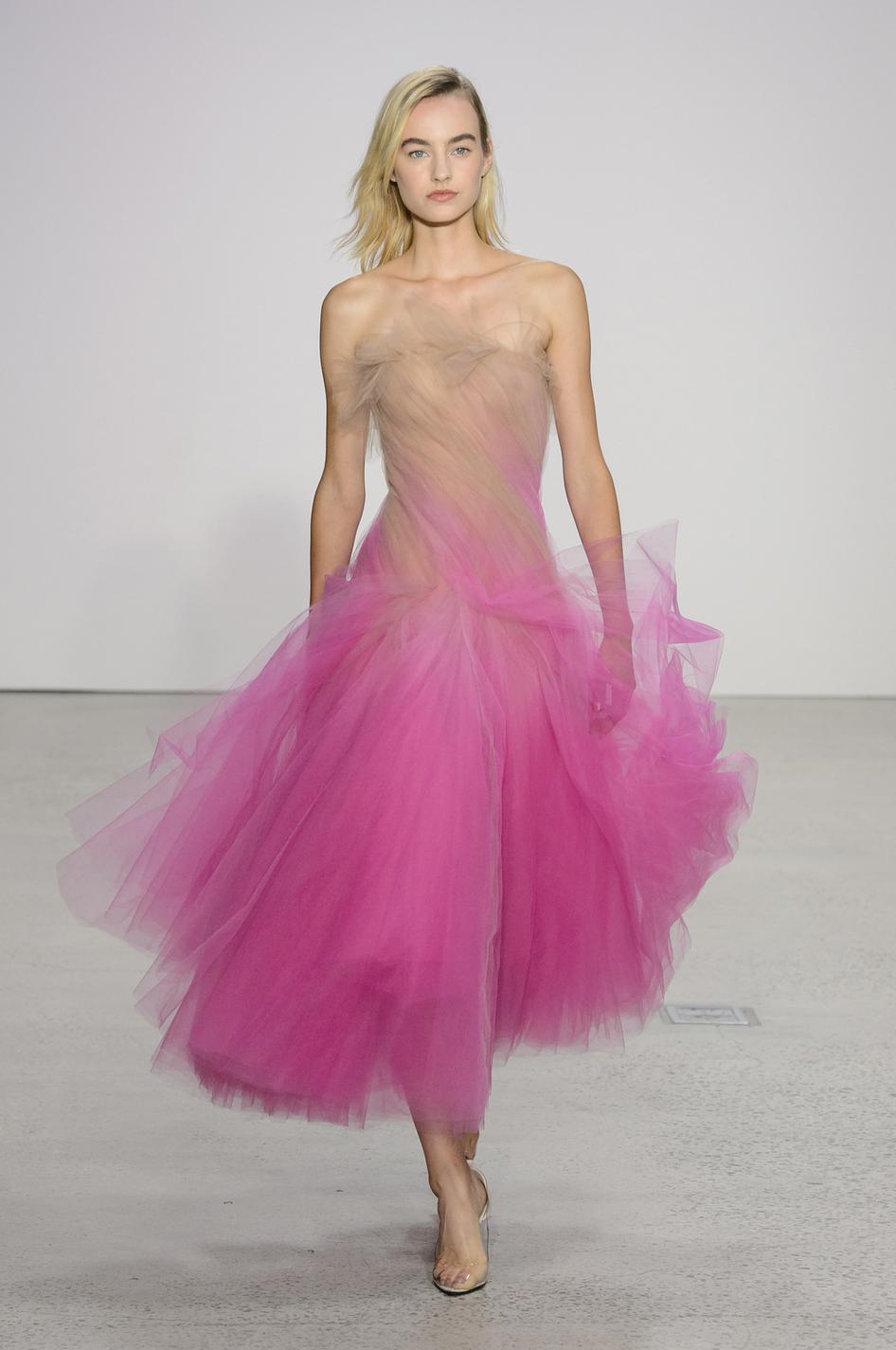 Платье с фатином омбре