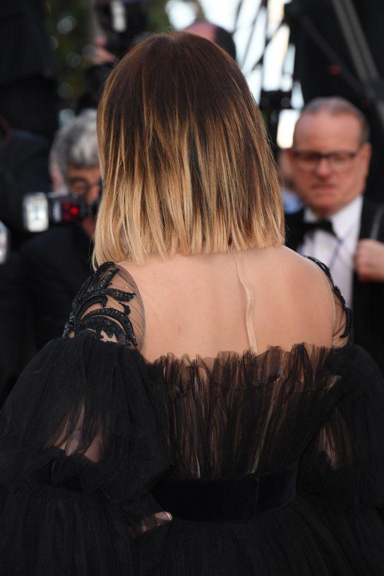 Стрижка на средние волосы 2018 омбре