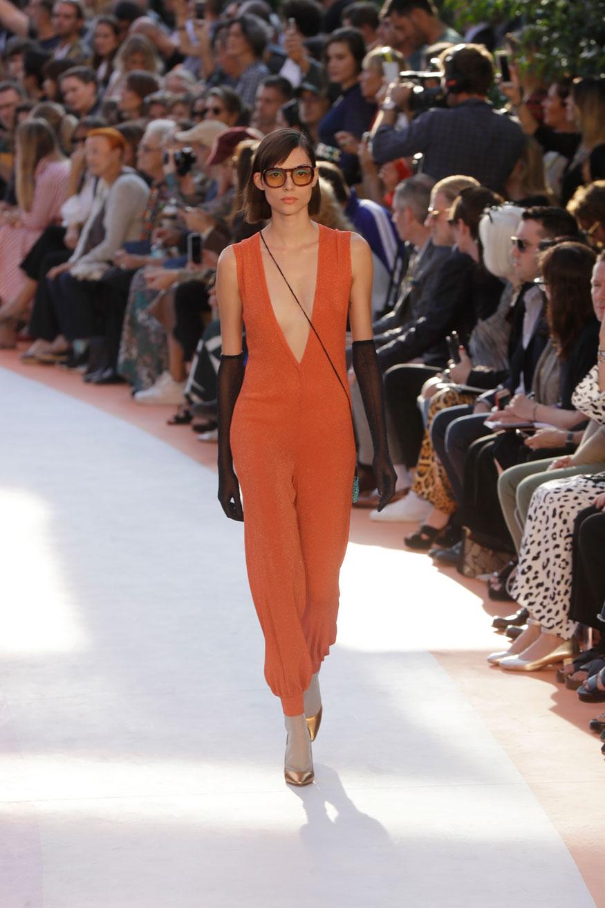 Missoni весна лето 2018 оранжевое платье