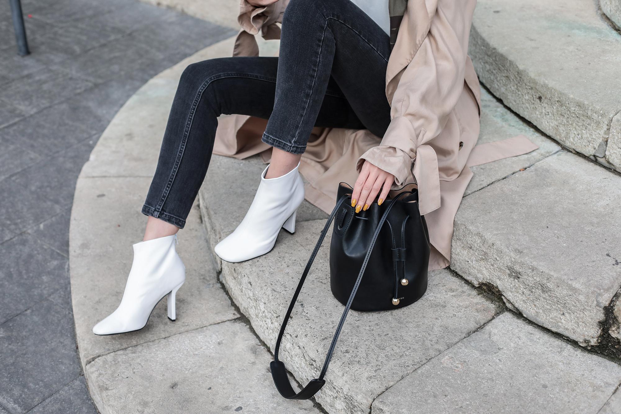Белые ботинки оригинальные