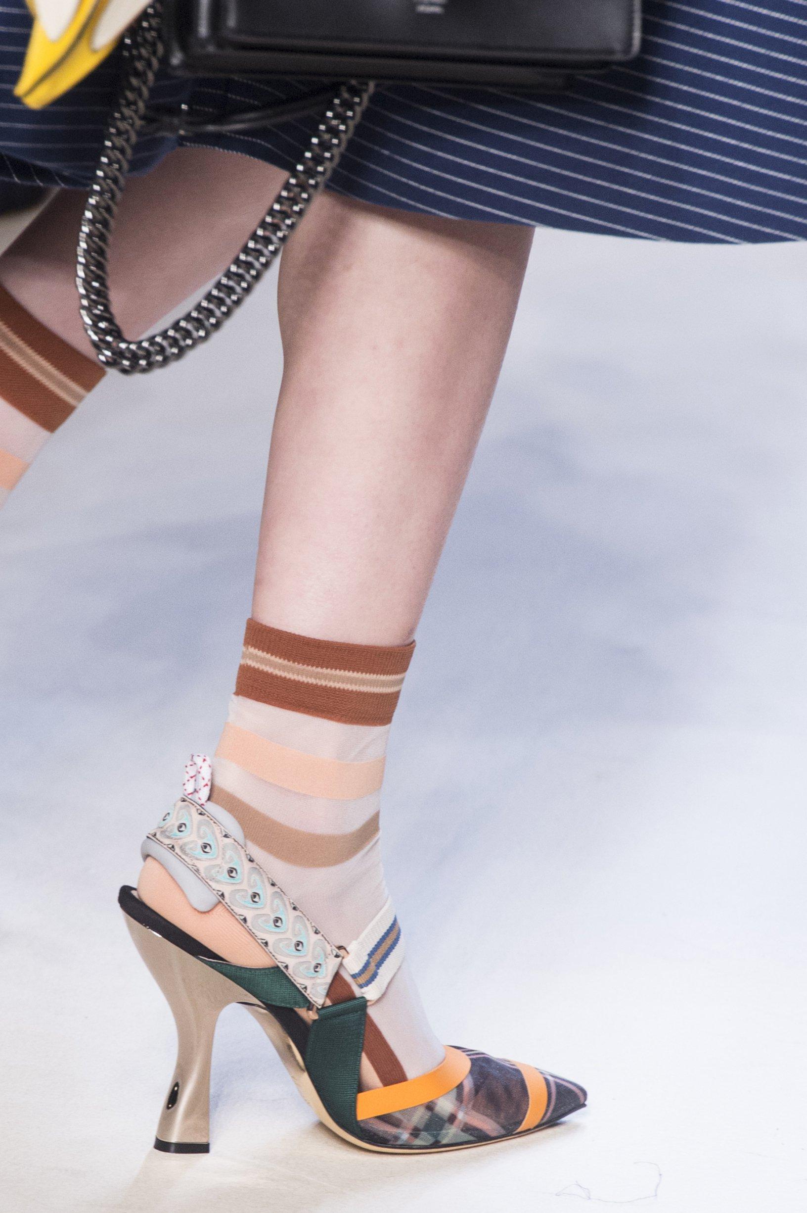 Fendi весна лето 2018 оригинальные туфли