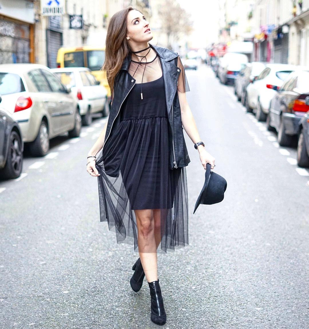 Платье с фатином оверсайз