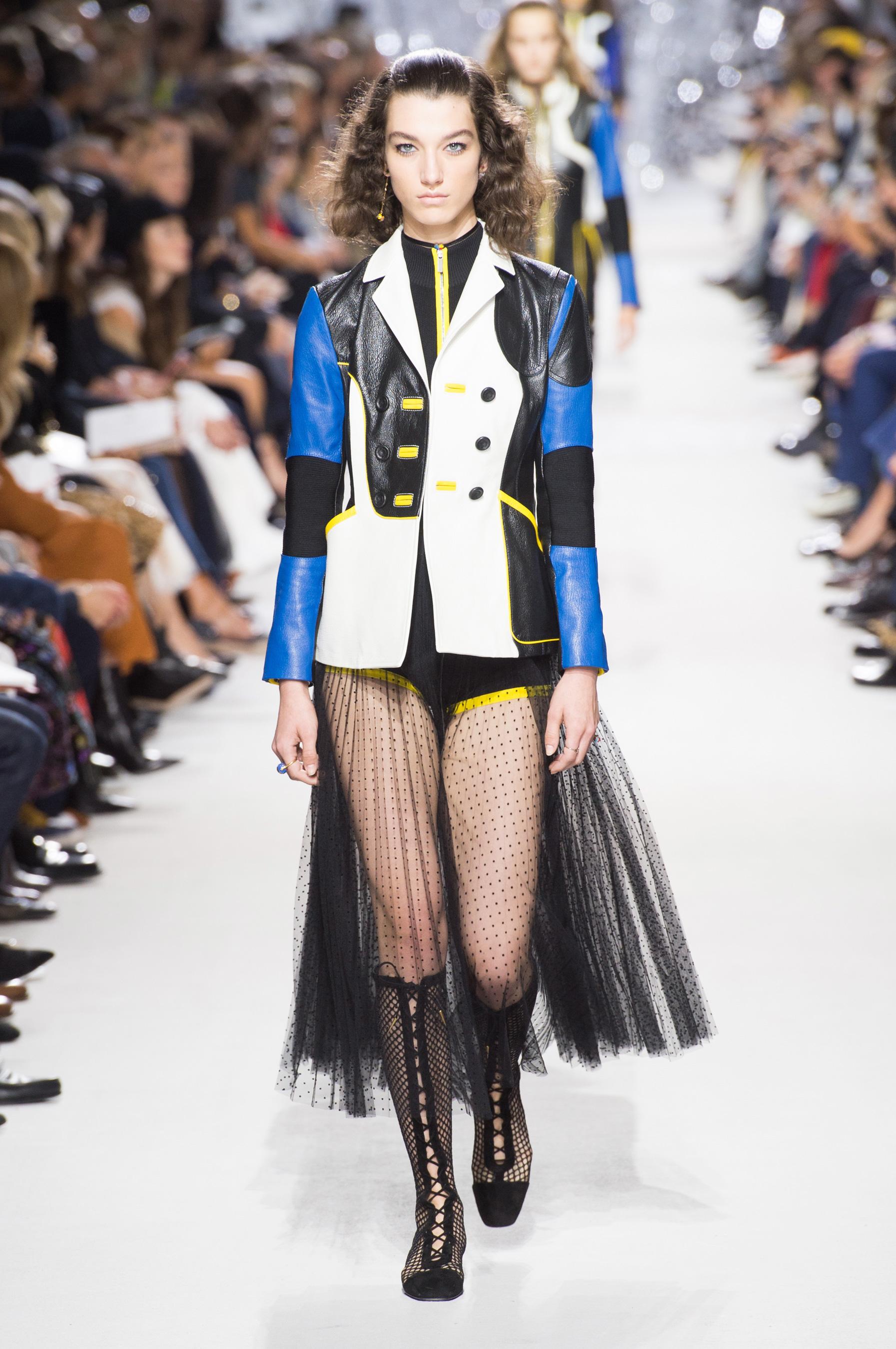 Christian Dior весна лето 2018 пиджак кожаный