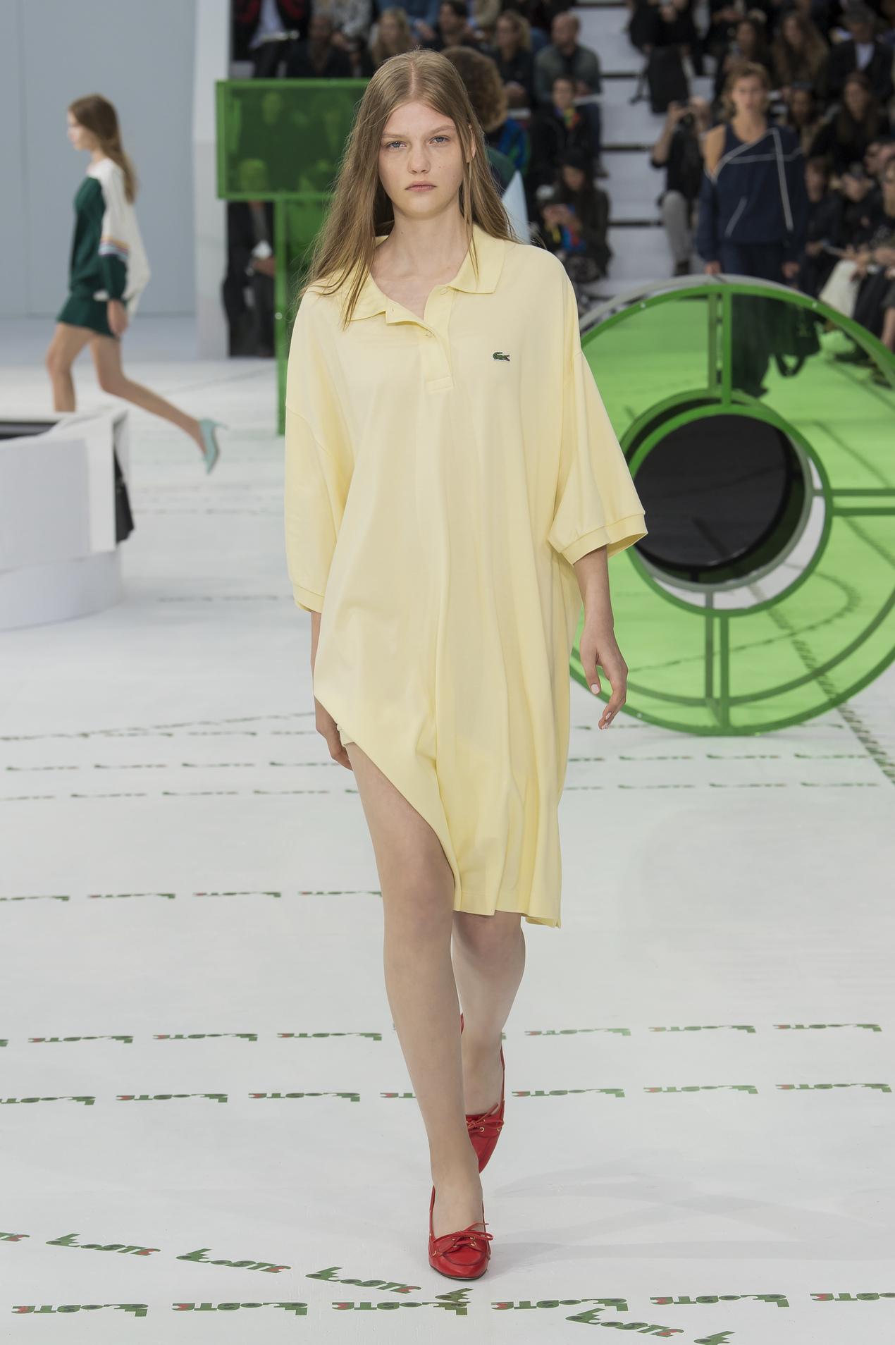 Lacoste весна лето 2018 платье