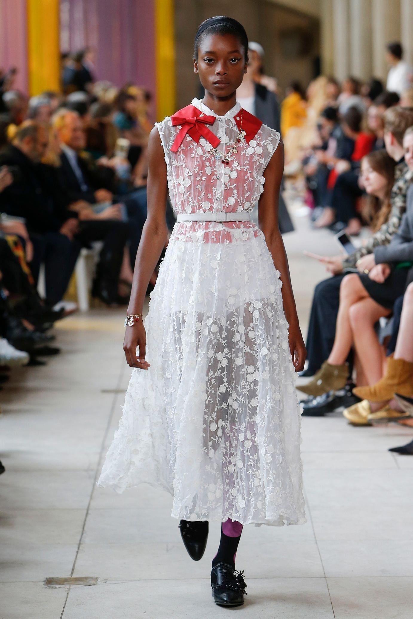 Miu miu весна лето 2018 платье