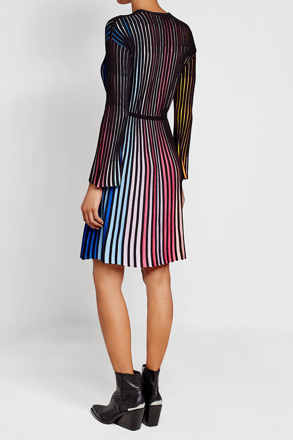 Платье в полоску 2018 плиссе