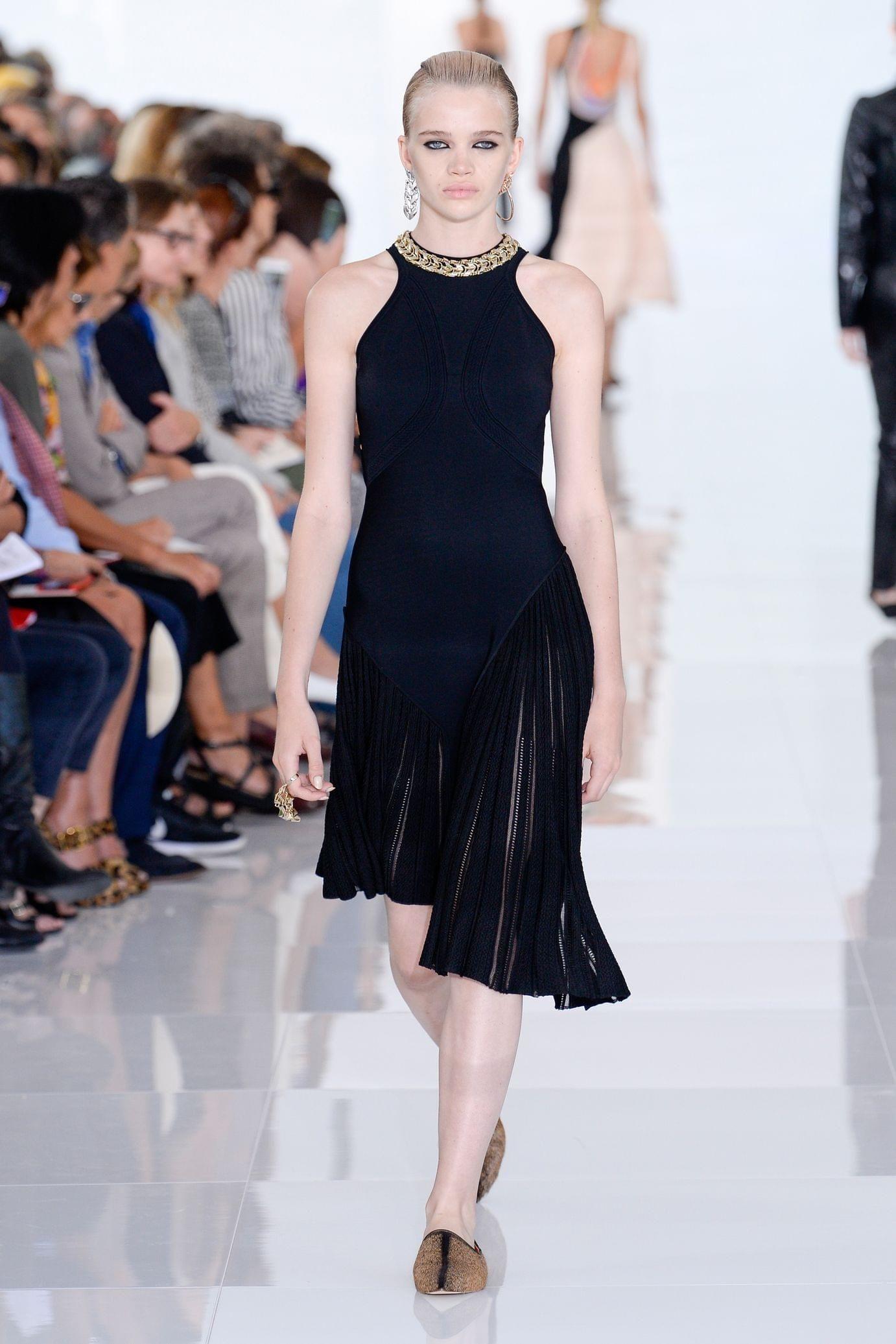 Roberto Cavalli весна лето 2018 платье плиссе