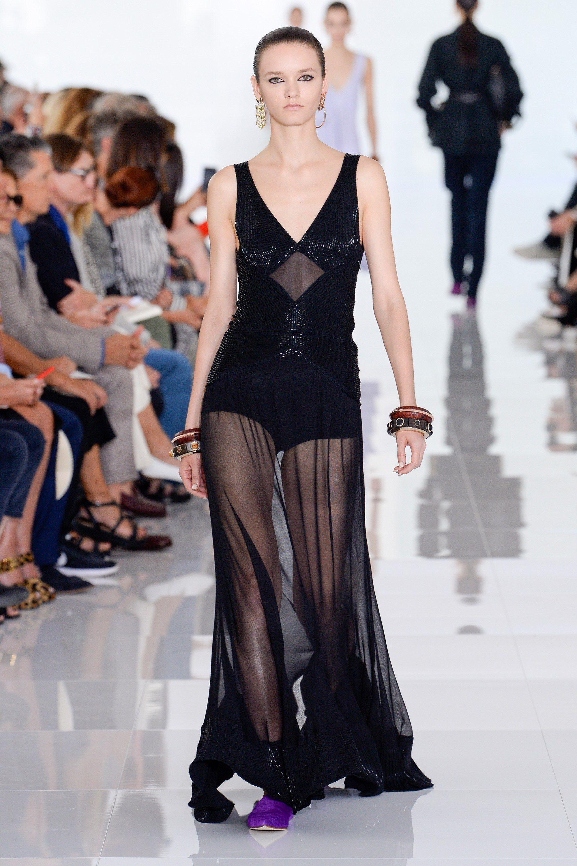 Roberto Cavalli весна лето 2018 прозрачное платье