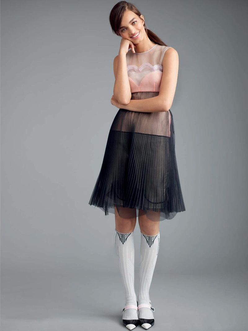 Платье трапеция прозрачное