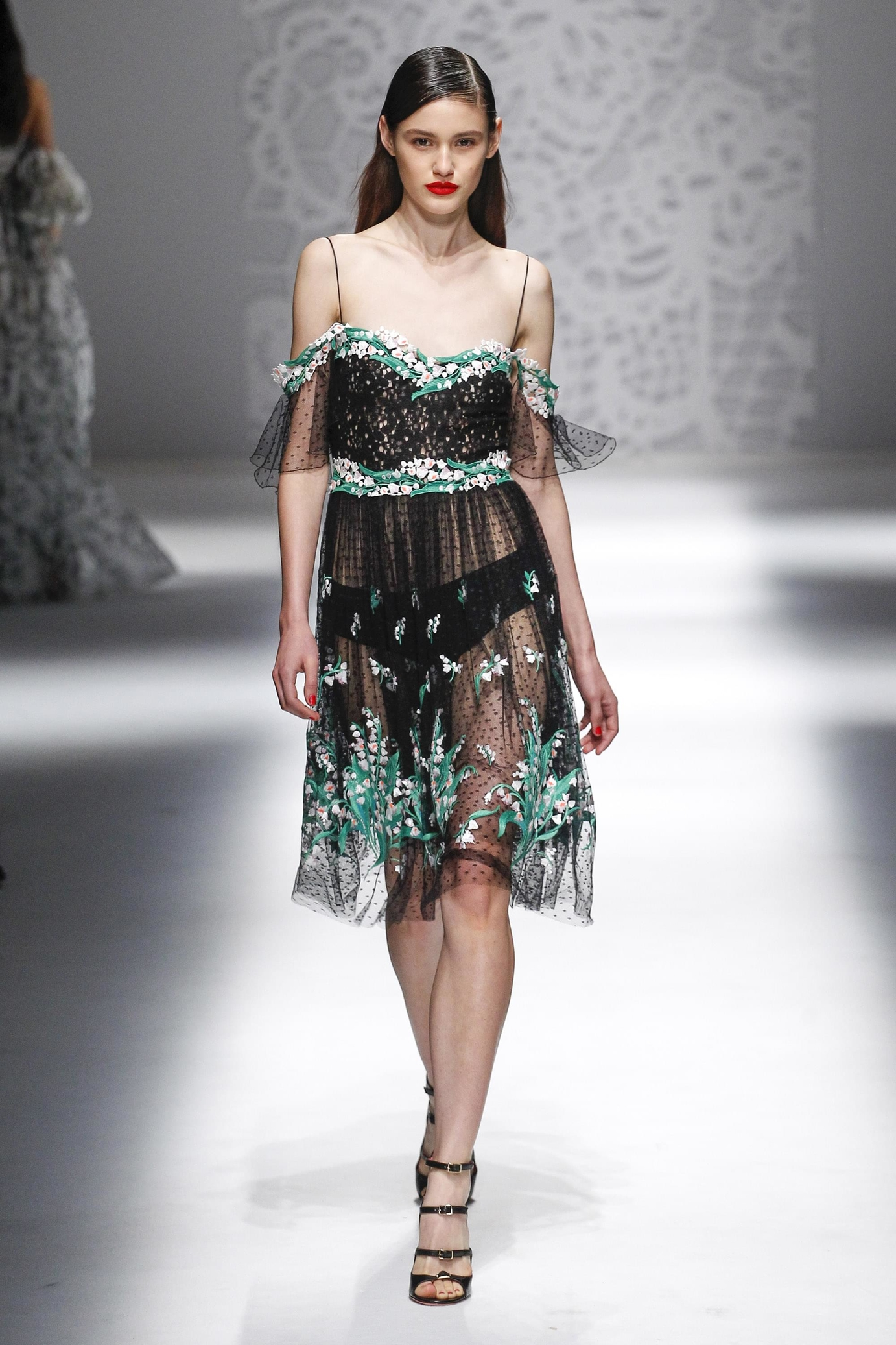 Blumarine весна лето 2018 прозрачное платье