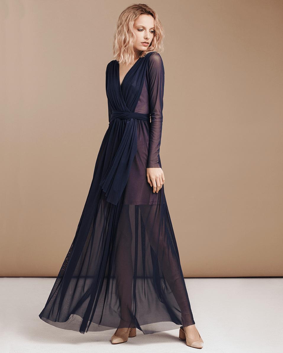 Платье трансформер прозрачное черное
