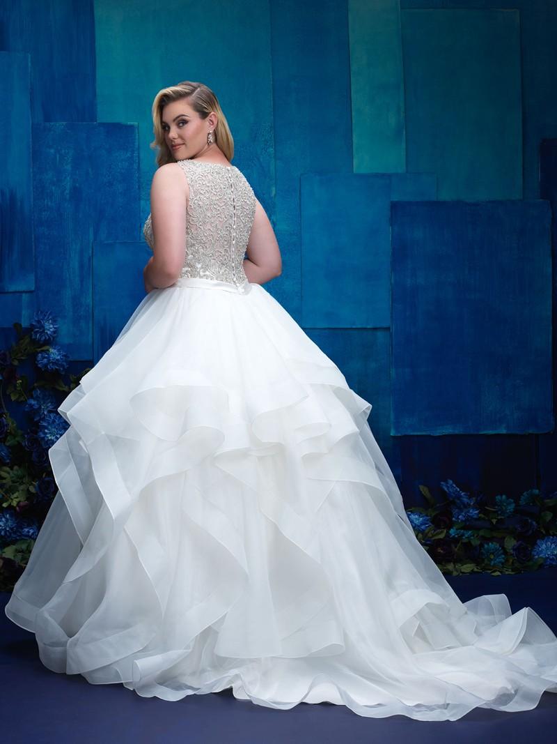 Свадебное платье для полных с пышной юбкой