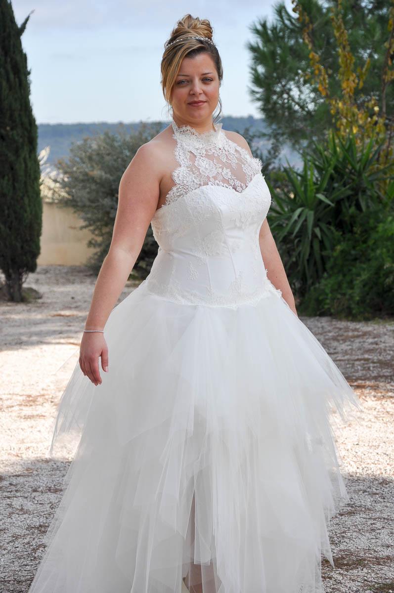 Свадебное платье для полных пышное