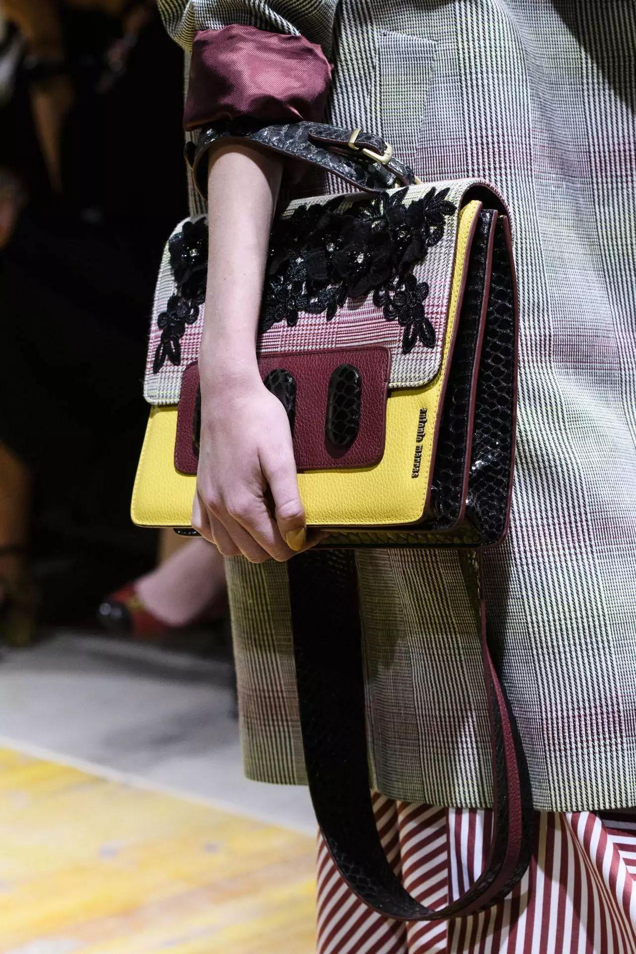 Кожаная сумка женская разноцветная