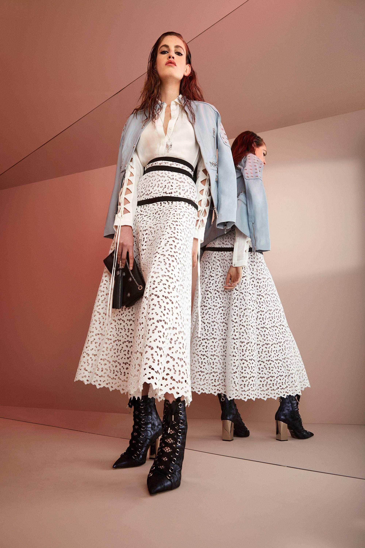 Roberto Cavalli круизная коллекция 2018 ажурная юбка