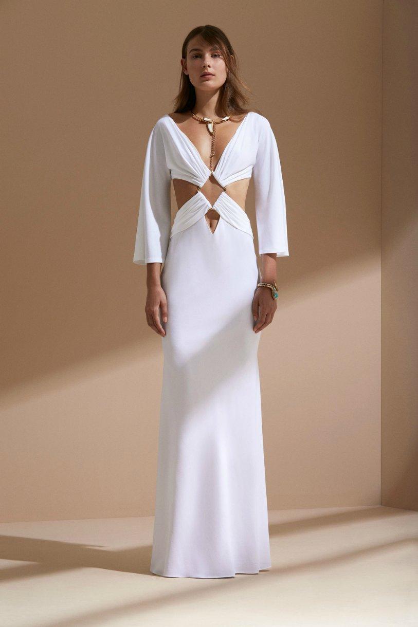 Roberto Cavalli круизная коллекция 2018 белое платье