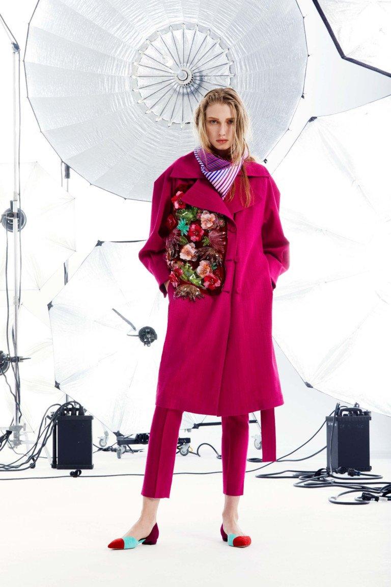 Emanuel Ungaro круизная коллекция 2018 пальто