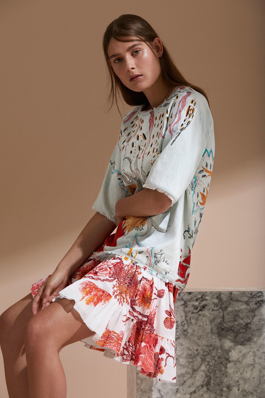 Roberto Cavalli круизная коллекция 2018 платье с принтом