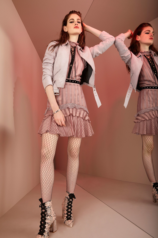 Roberto Cavalli круизная коллекция 2018 розовая юбка