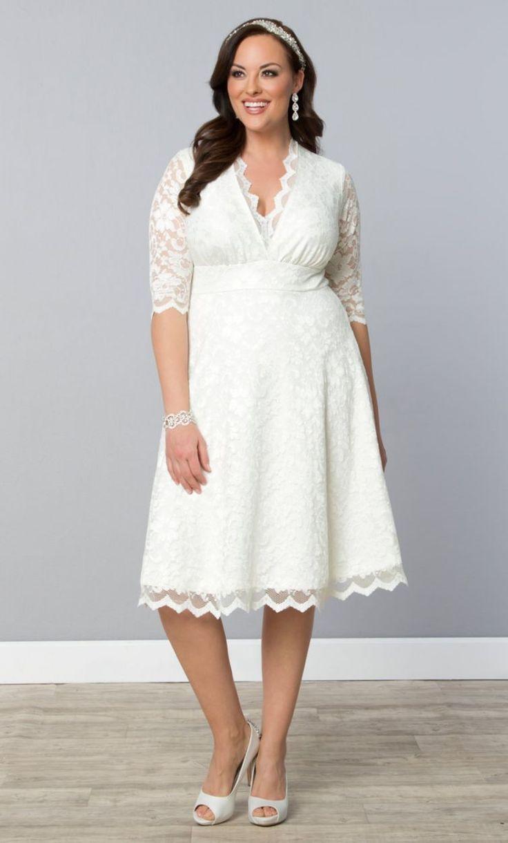 Свадебное платье для полных ретро