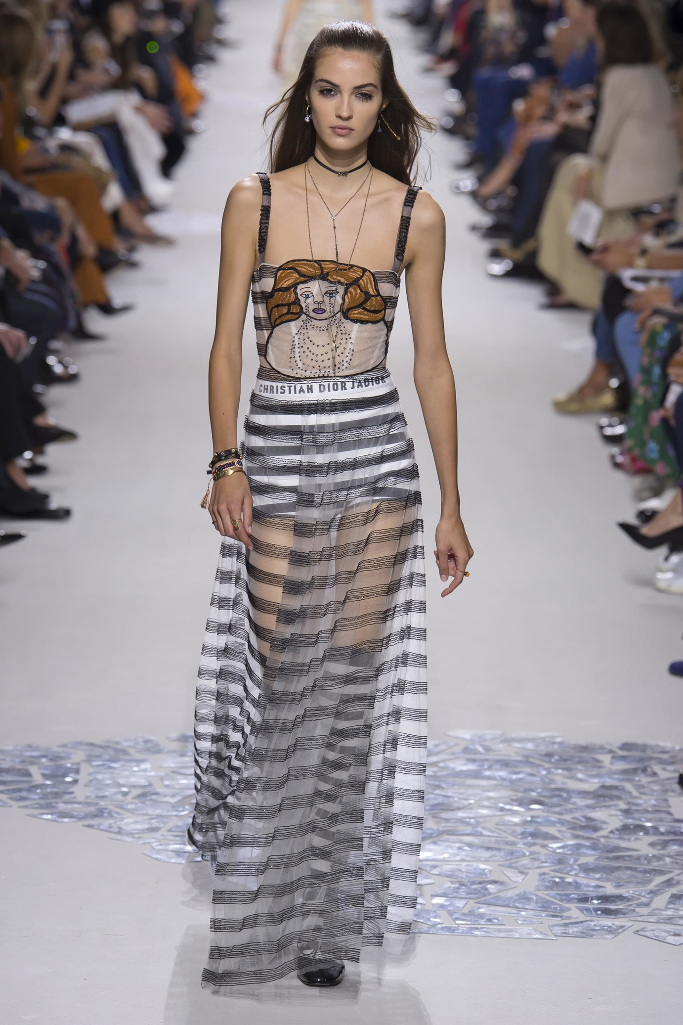 Christian Dior весна лето 2018 платье с рисунком