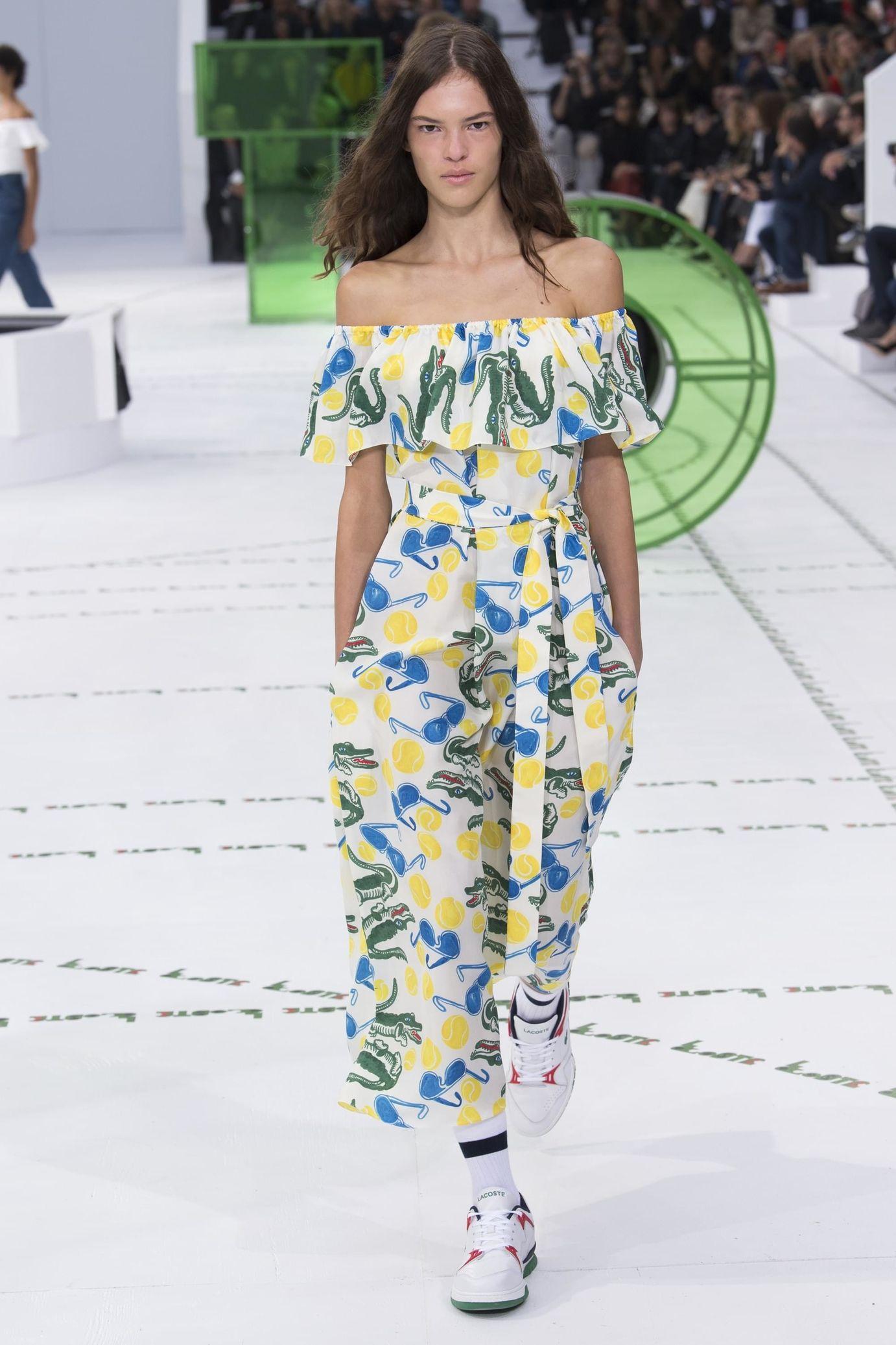 Lacoste весна лето 2018 платье с рисунком