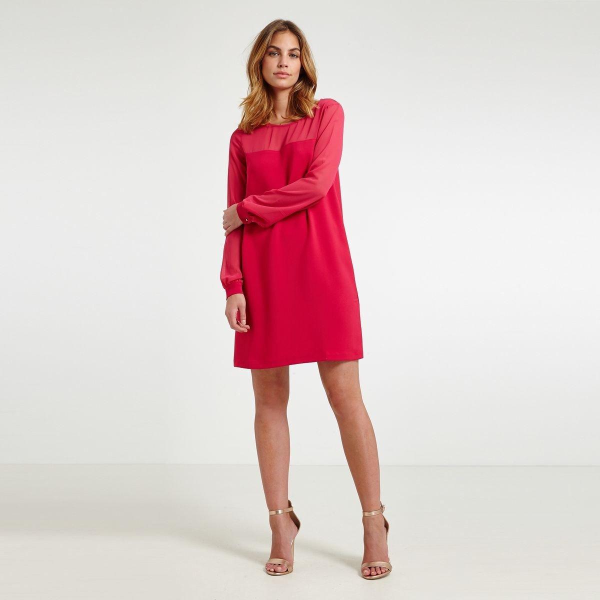 Платье трапеция розовое