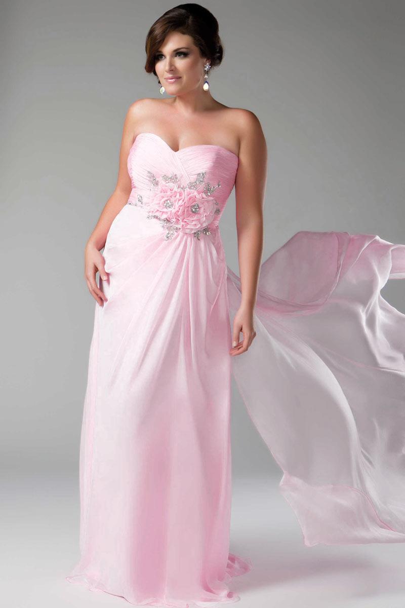 Свадебное платье для полных розовое
