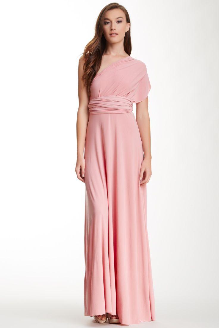 Платье трансформер розовое