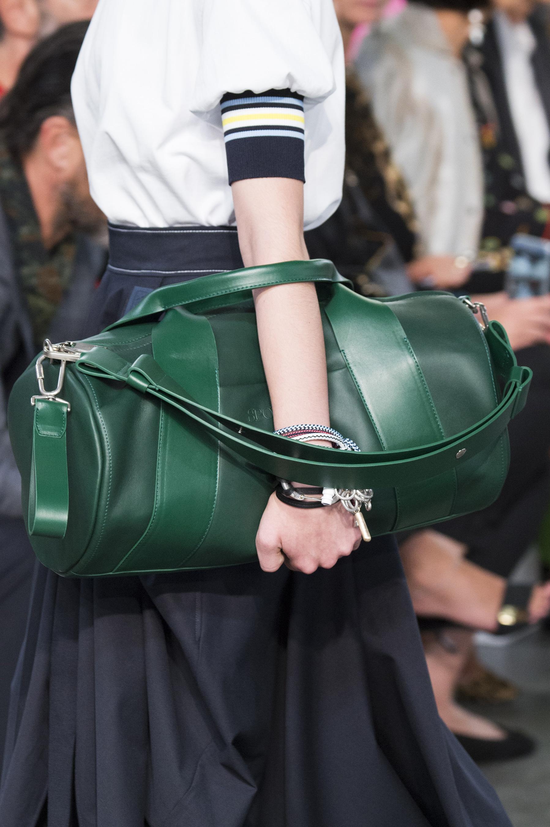 Кожаная сумка женская саквояж