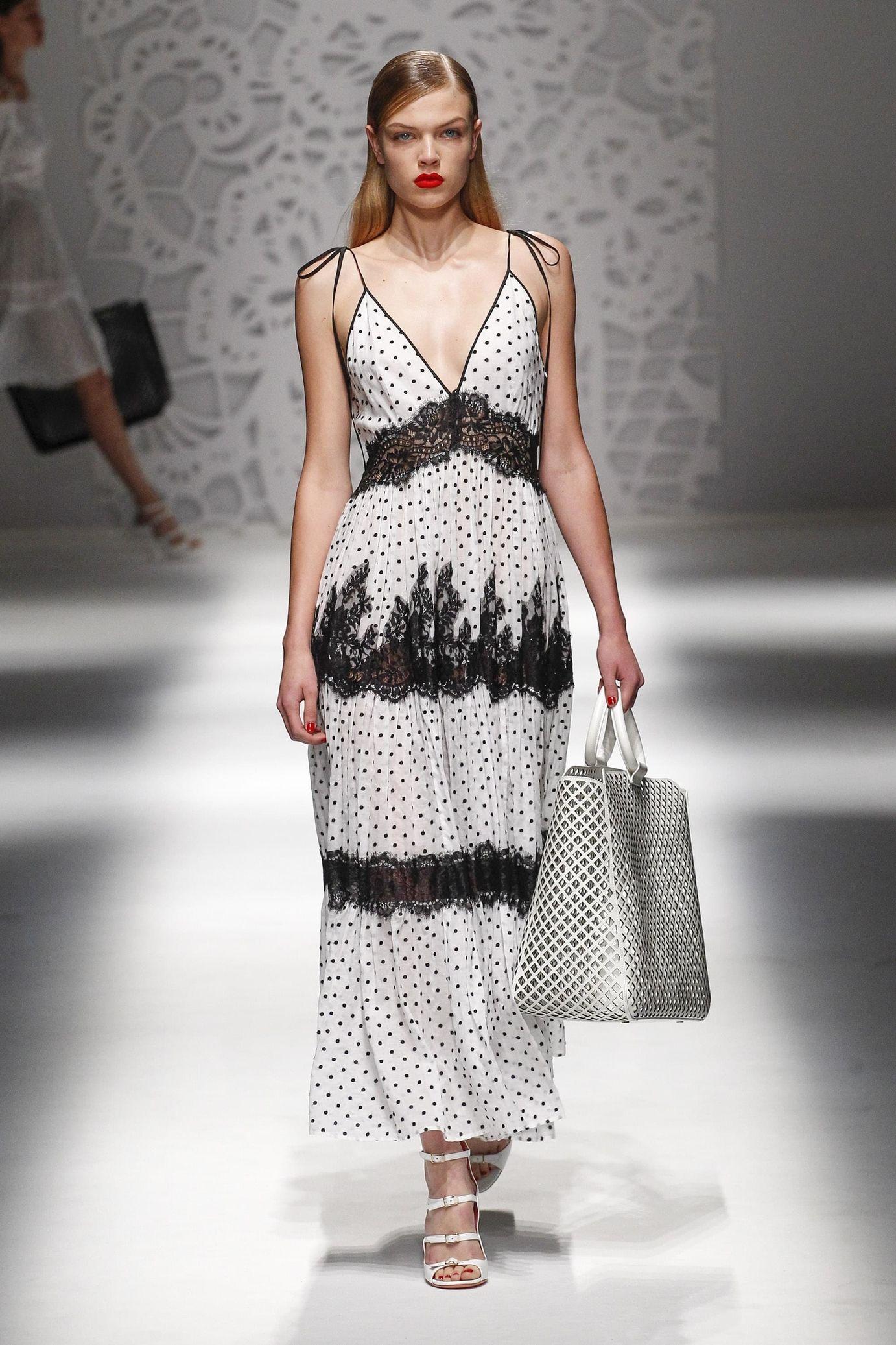 Blumarine весна лето 2018 платье сарафан