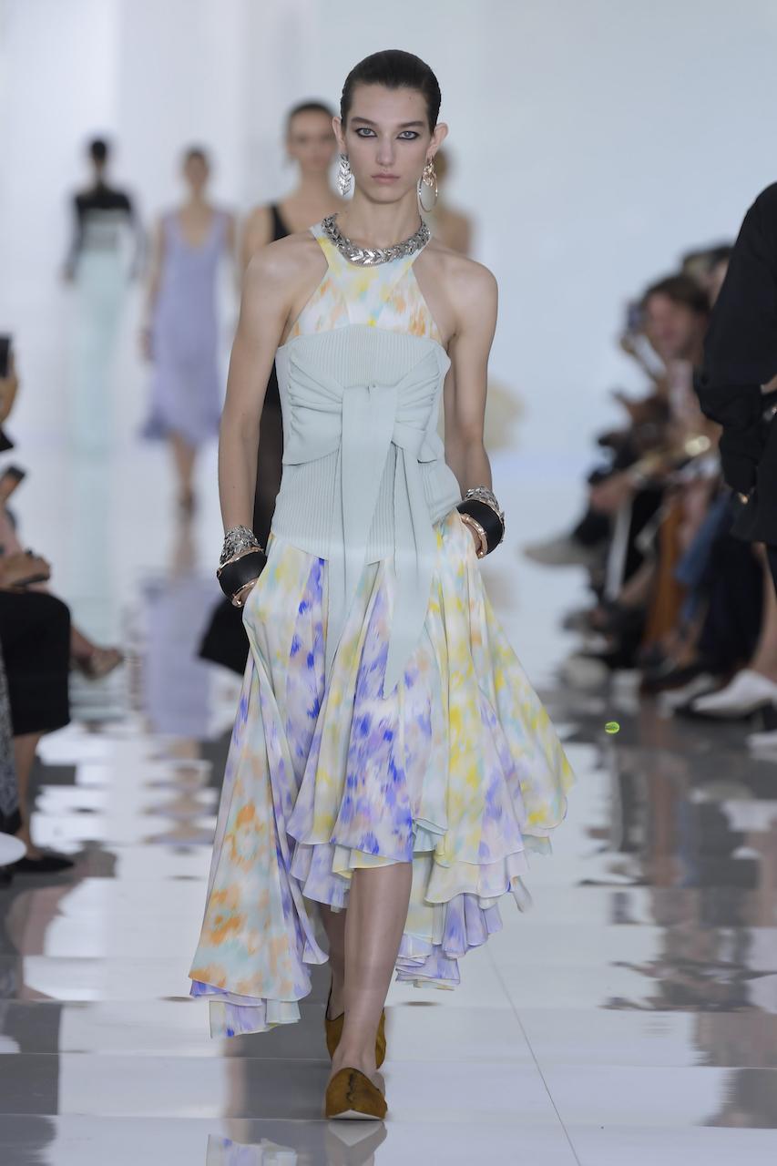 Roberto Cavalli весна лето 2018 шифоновое платье