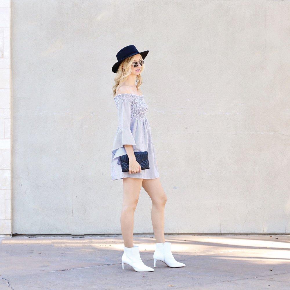 Белые ботинки до щиколотки