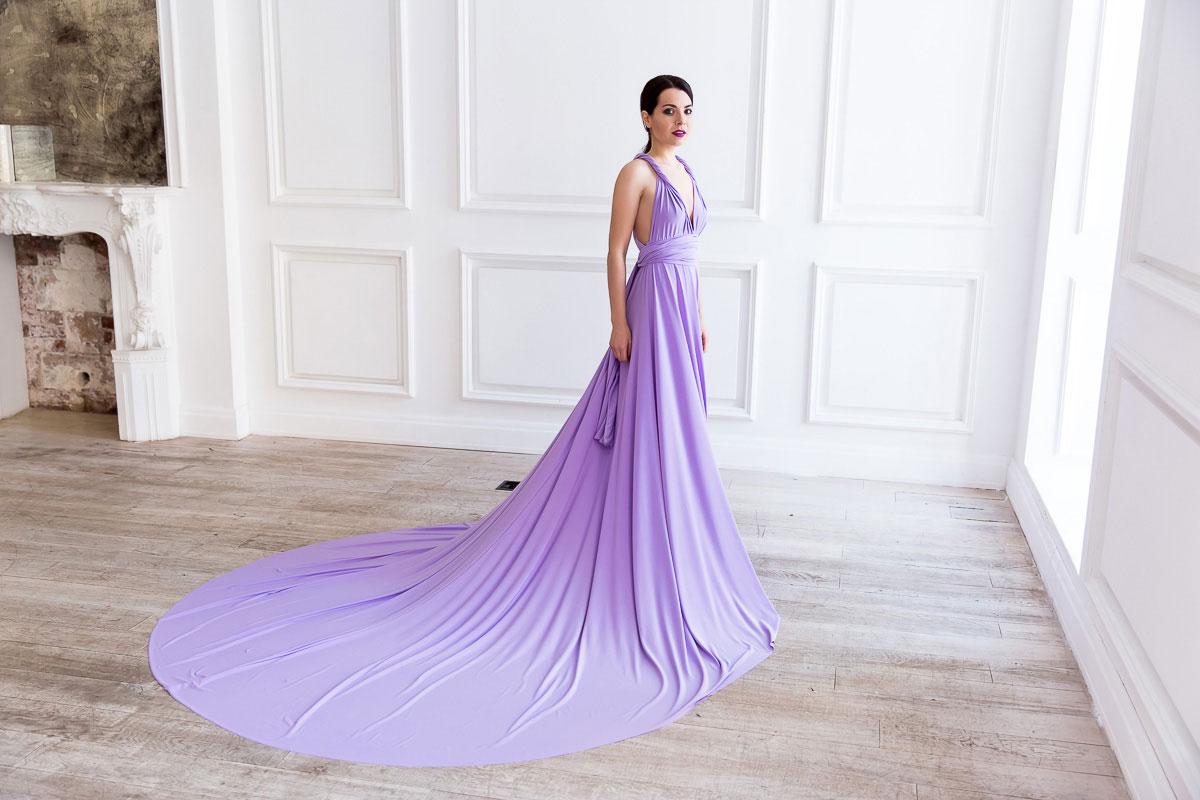 Платье трансформер со шлейфом