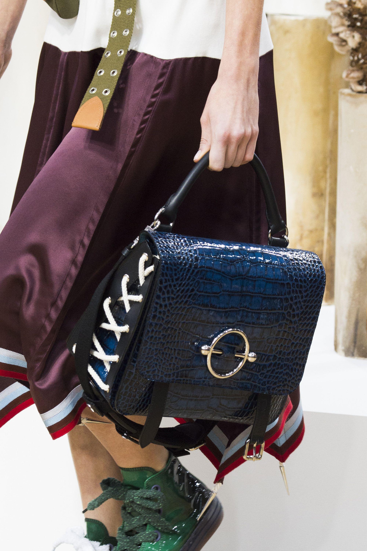 Кожаная сумка женская синяя под крокодила