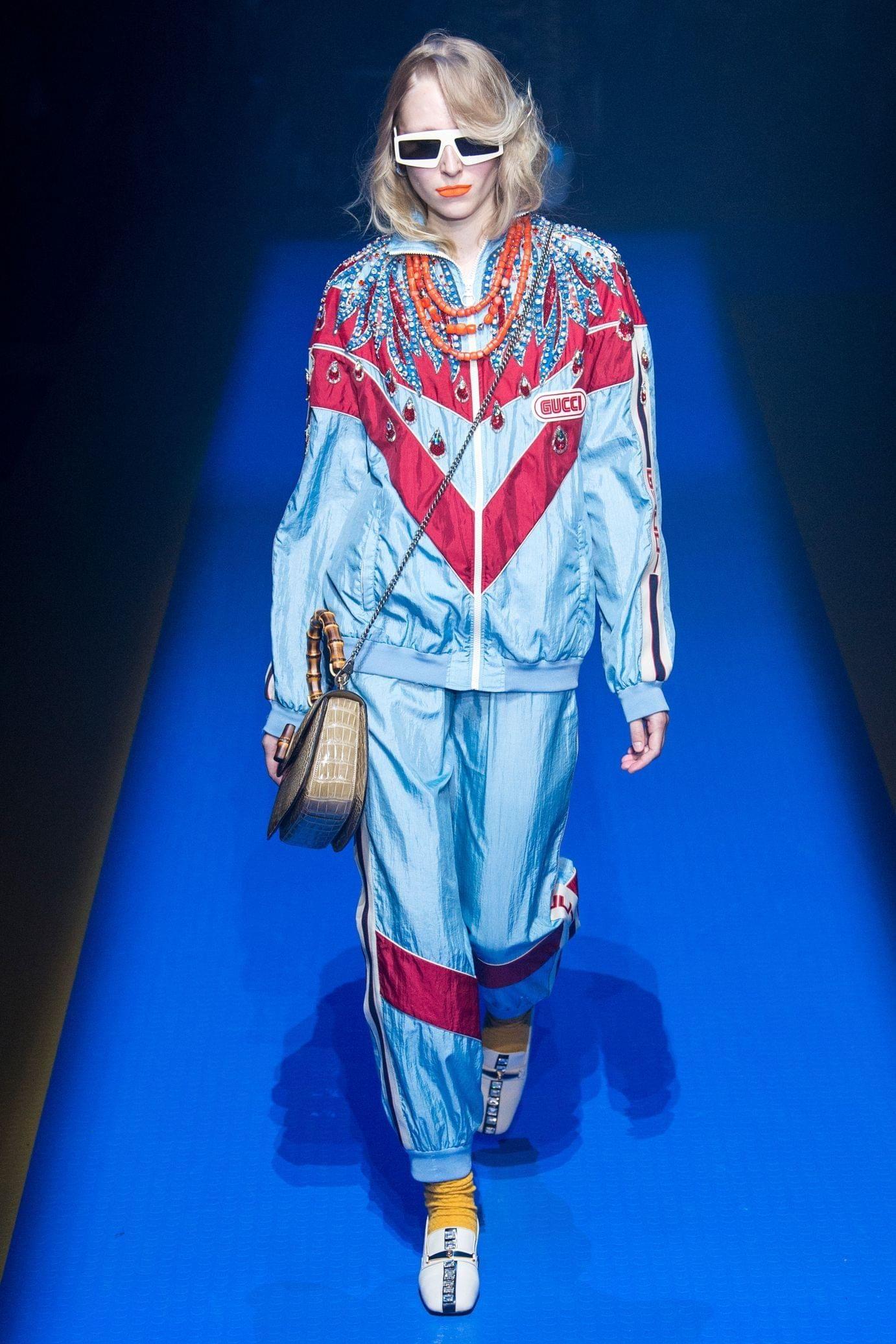 Gucci весна лето 2018 спортивный костюм