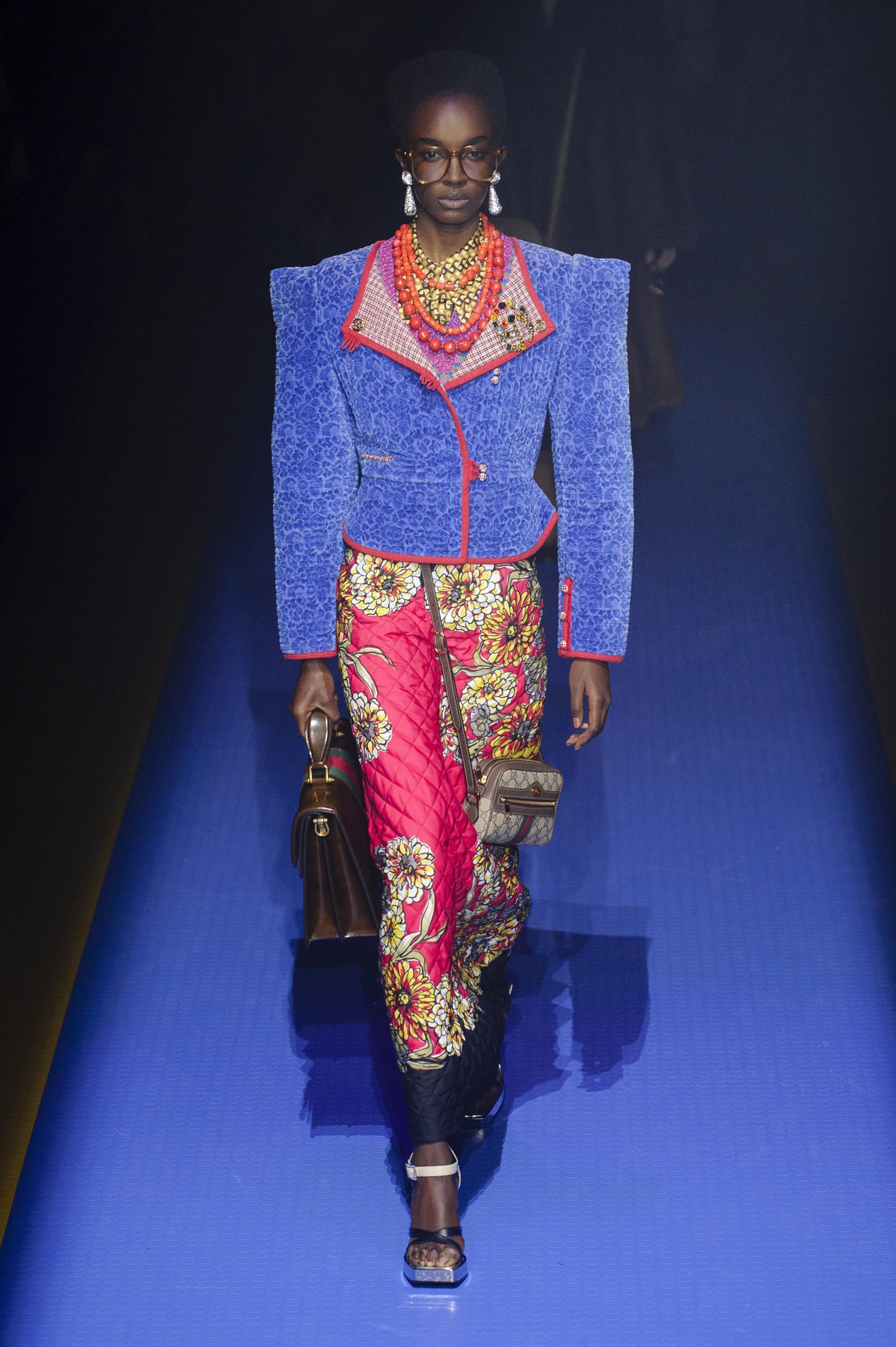 Gucci весна лето 2018 стеганая юбка