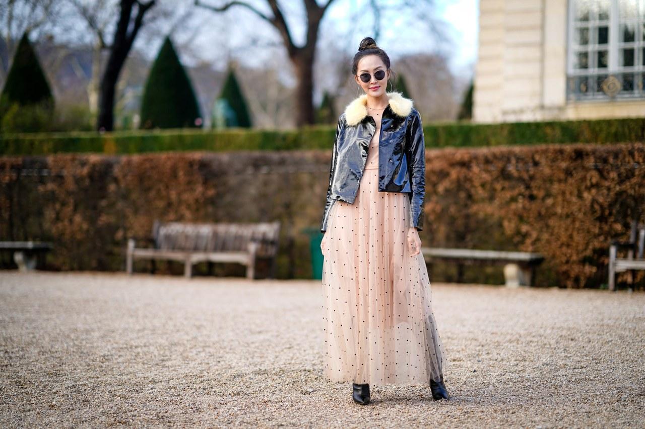 Платье с фатином стильное