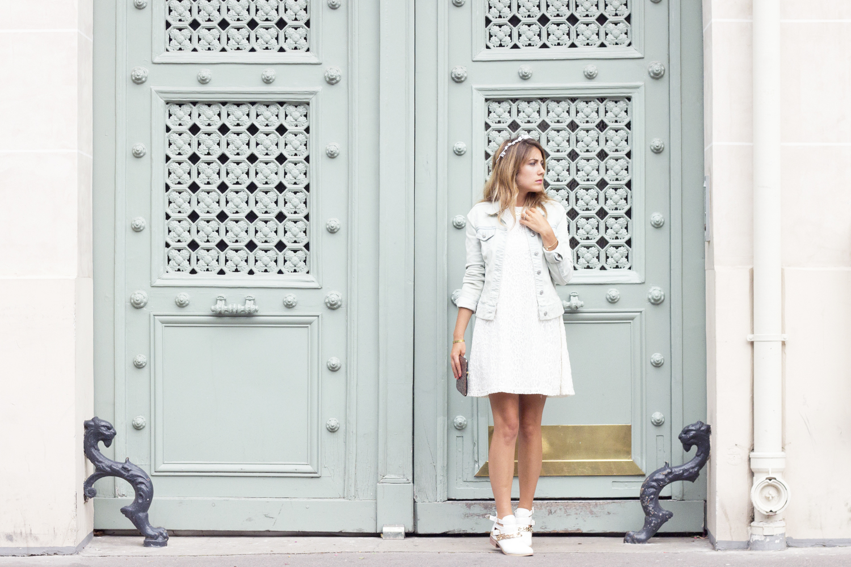 Белые ботинки стильные