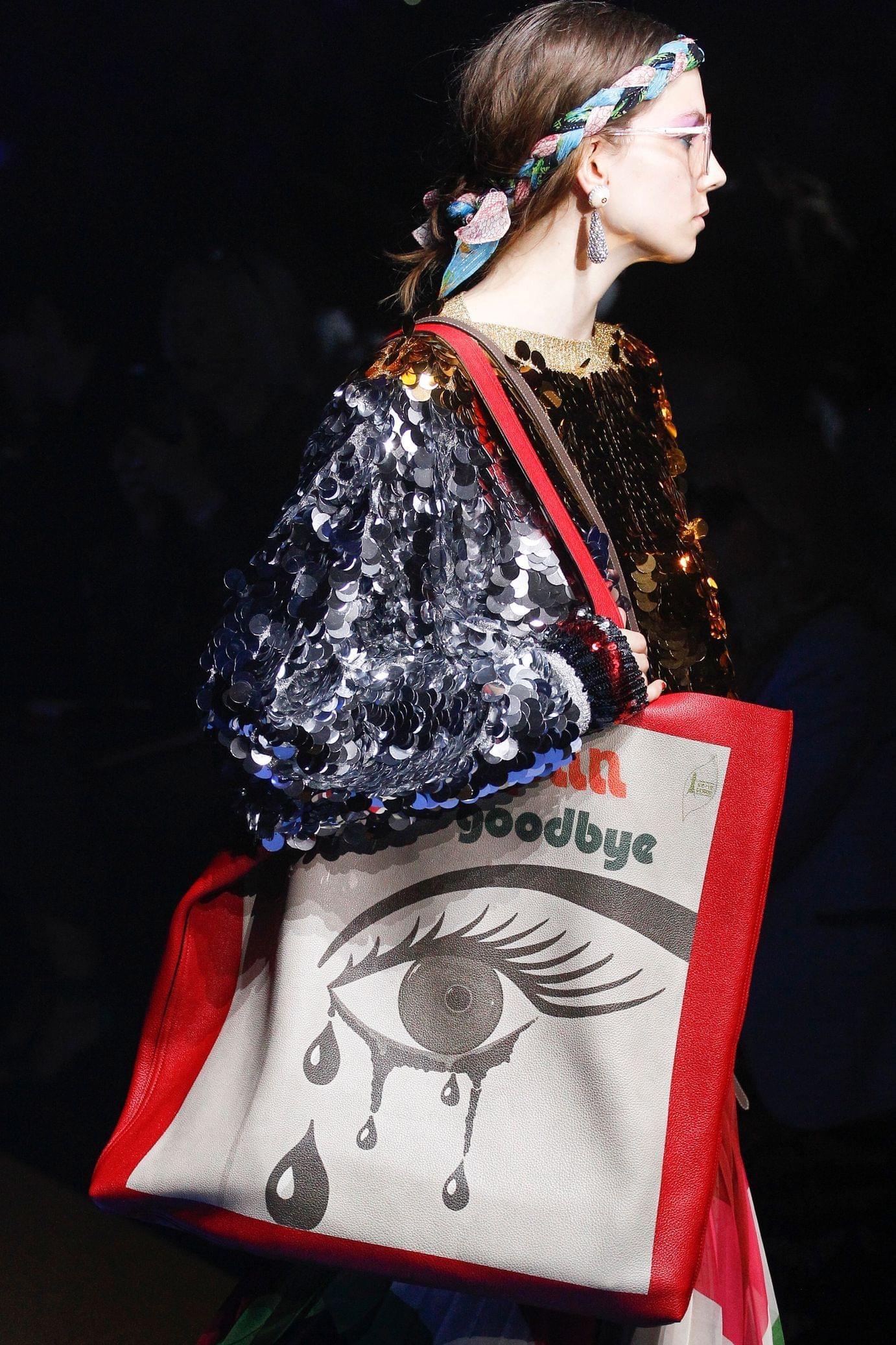 Gucci весна лето 2018 сумка большая
